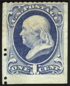 Sale Number 560, Lot Number 166, 1870-93 Bank Note Issues1c Ultramarine, Special Printing (167), 1c Ultramarine, Special Printing (167)