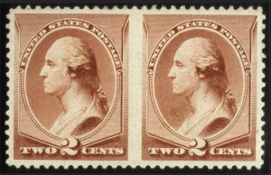 Sale Number 560, Lot Number 175, 1870-93 Bank Note Issues2c Pale Red Brown, Special Printing, Horizontal Pair Imperf. Between (211Bc), 2c Pale Red Brown, Special Printing, Horizontal Pair Imperf. Between (211Bc)