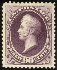 Sale Number 560, Lot Number 179, 1870-93 Bank Note Issues90c Purple (218), 90c Purple (218)