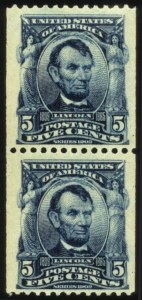 Sale Number 560, Lot Number 245, 1902-08 Issue5c Blue Coil (317), 5c Blue Coil (317)