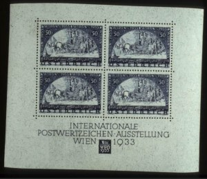 Sale Number 560, Lot Number 365, General ForeignAUSTRIA, 1933, 50g WIPA Souvenir Sheet (B111), AUSTRIA, 1933, 50g WIPA Souvenir Sheet (B111)