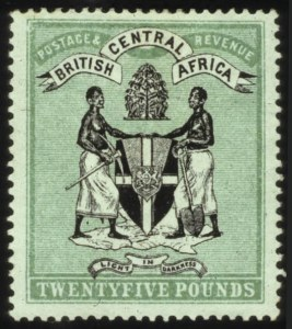Sale Number 560, Lot Number 370, General ForeignBRITISH CENTRAL AFRICA, 1896, £25 Green & Black (42), BRITISH CENTRAL AFRICA, 1896, £25 Green & Black (42)