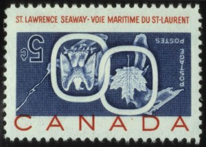 Sale Number 560, Lot Number 387, General Foreign1959, 5c Seaway, Center Inverted (387a), 1959, 5c Seaway, Center Inverted (387a)