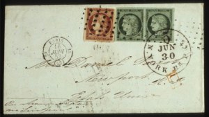 Sale Number 560, Lot Number 393, General ForeignFRANCE, 1849-50, 15c Yellow Green, 1fr Dark Carmine (2, 9), FRANCE, 1849-50, 15c Yellow Green, 1fr Dark Carmine (2, 9)