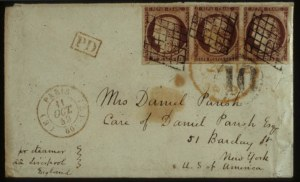 Sale Number 560, Lot Number 395, General Foreign-----, 1849, 1fr Brown Carmine (9b), -----, 1849, 1fr Brown Carmine (9b)