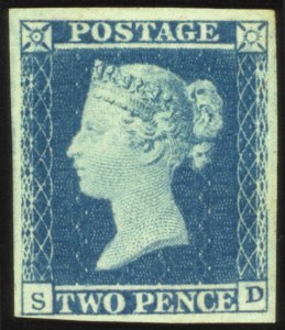 Sale Number 560, Lot Number 401A, General Foreign1841, 2p Violet Blue (4 var), 1841, 2p Violet Blue (4 var)