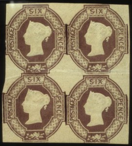 Sale Number 560, Lot Number 401B, General Foreign1854, 6p Red Violet (7), 1854, 6p Red Violet (7)