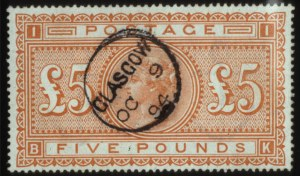 Sale Number 560, Lot Number 402, General Foreign1882, £5 Bright Orange (93), 1882, £5 Bright Orange (93)