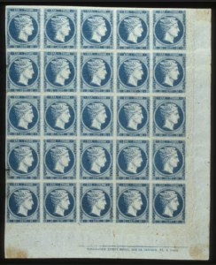 Sale Number 560, Lot Number 406, General ForeignGREECE, 1861, 20L Blue on Bluish (4), GREECE, 1861, 20L Blue on Bluish (4)