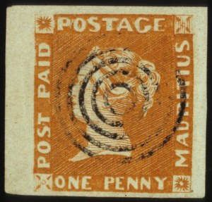 Sale Number 560, Lot Number 416, General ForeignMAURITIUS, 1848, 1p Orange, Earliest Impression (3), MAURITIUS, 1848, 1p Orange, Earliest Impression (3)