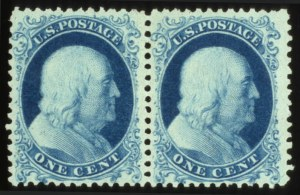 Sale Number 560, Lot Number 95, 1875 Reprints of 1857-60 Issue1c Bright Blue Reprint (40), 1c Bright Blue Reprint (40)