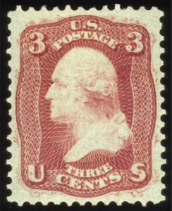 "Sale Number 560, Lot Number 98, 1861-66 Issue3c Brown Rose, ""First Design"" (56), 3c Brown Rose, ""First Design"" (56)"