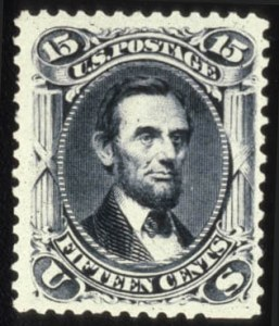 Sale Number 579, Lot Number 147, 1875 Re-Issue of 1861-66 Issue15c Black, Re-Issue (108), 15c Black, Re-Issue (108)
