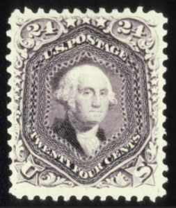 Sale Number 579, Lot Number 149, 1875 Re-Issue of 1861-66 Issue24c Deep Violet, Re-Issue (109), 24c Deep Violet, Re-Issue (109)