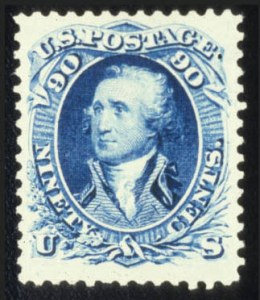 Sale Number 579, Lot Number 151, 1875 Re-Issue of 1861-66 Issue90c Blue, Re-Issue (111), 90c Blue, Re-Issue (111)
