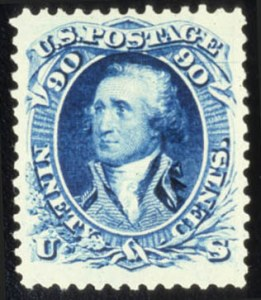Sale Number 579, Lot Number 152, 1875 Re-Issue of 1861-66 Issue90c Blue, Re-Issue (111), 90c Blue, Re-Issue (111)