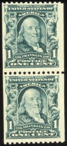 Sale Number 579, Lot Number 309, 1902-08 Issue1c Blue Green, Coil (316), 1c Blue Green, Coil (316)