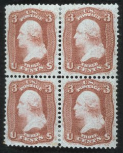 "Sale Number 596, Lot Number 197, 1861-66 Issue3c Brown Rose, ""First Design"" (56), 3c Brown Rose, ""First Design"" (56)"
