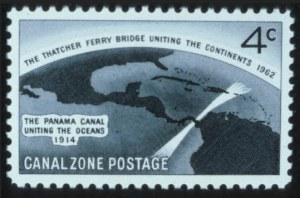 Sale Number 596, Lot Number 401, U.S. Possessions1962, 4c Thatcher Ferry Bridge, Silver Bridge Omitted (157a), 1962, 4c Thatcher Ferry Bridge, Silver Bridge Omitted (157a)