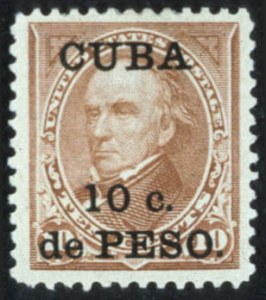 Sale Number 596, Lot Number 402, U.S. PossessionsCUBA, 1899, 10c on 10c Brown Ty. II, Overprint (226A), CUBA, 1899, 10c on 10c Brown Ty. II, Overprint (226A)