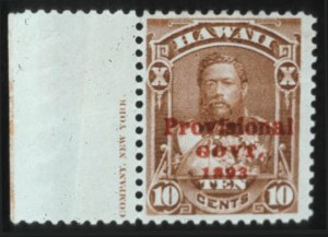 Sale Number 596, Lot Number 413, U.S. Possessions1893, 10c Red Brown, Red Overprint (61B), 1893, 10c Red Brown, Red Overprint (61B)