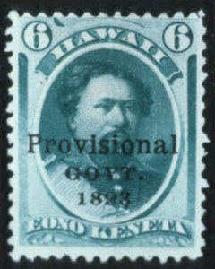 Sale Number 596, Lot Number 414, U.S. Possessions1893, 6c Green, Black Overprint (66C), 1893, 6c Green, Black Overprint (66C)