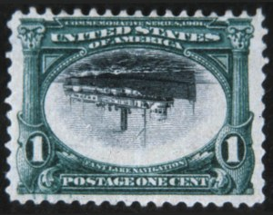 Sale Number 618, Lot Number 175, Pan-American Issue1c Pan-American, Center Inverted (294a), 1c Pan-American, Center Inverted (294a)