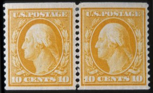 Sale Number 618, Lot Number 188, Later Issues10c Yellow, Coil (356), 10c Yellow, Coil (356)