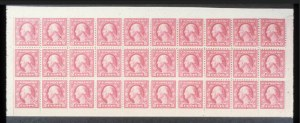 Sale Number 618, Lot Number 205, Later Issues2c Rose, A.E.F. Booklet Pane of 30 (499f), 2c Rose, A.E.F. Booklet Pane of 30 (499f)