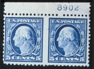 Sale Number 618, Lot Number 206, Later Issues5c Blue, Horizontal Pair Imperforate Between (504a), 5c Blue, Horizontal Pair Imperforate Between (504a)
