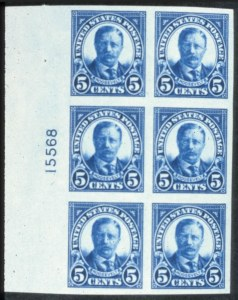 Sale Number 618, Lot Number 213, Later Issues5c Deep Blue, Imperf. (557a). Mint Left Plate No, 5c Deep Blue, Imperf. (557a). Mint Left Plate No