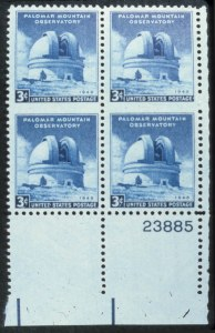 Sale Number 618, Lot Number 221, Later Issues3c Palomar, Vertical Pair Imperforate Between (966 var). Bottom  Right Plate No, 3c Palomar, Vertical Pair Imperforate Between (966 var). Bottom  Right Plate No