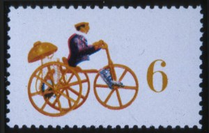 Sale Number 618, Lot Number 223, Later Issues6c Mechanical Tricycle, Black Omitted (1417b), 6c Mechanical Tricycle, Black Omitted (1417b)