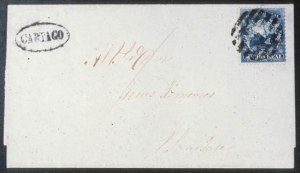 Sale Number 618, Lot Number 466, General ForeignCOSTA RICA, 1863, 1/2p Blue (1), COSTA RICA, 1863, 1/2p Blue (1)