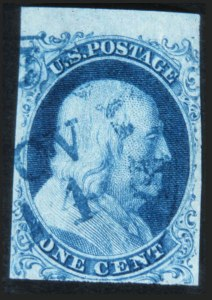 Sale Number 632, Lot Number 180, 1851-56 Issue1c Blue, Ty. 1b (5A), 1c Blue, Ty. 1b (5A)