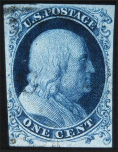 Sale Number 632, Lot Number 182, 1851-56 Issue1c Blue, Ty. 1a (6), 1c Blue, Ty. 1a (6)
