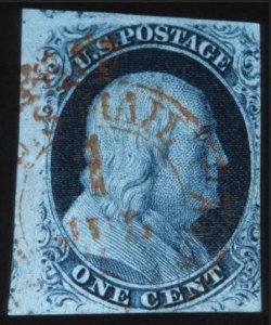Sale Number 632, Lot Number 183, 1851-56 Issue1c Blue, Ty. III (8), 1c Blue, Ty. III (8)