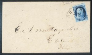 Sale Number 632, Lot Number 185, 1851-56 Issue1c Blue, Ty. III (8), 1c Blue, Ty. III (8)