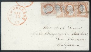 Sale Number 632, Lot Number 190, 1851-56 Issue3c Dull Red, Vertical Half Used as 1c (11c), 3c Dull Red, Vertical Half Used as 1c (11c)