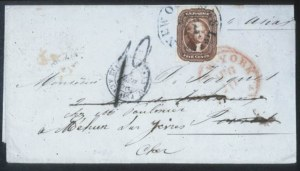 Sale Number 632, Lot Number 196, 1851-56 Issue5c Red Brown (12), 5c Red Brown (12)