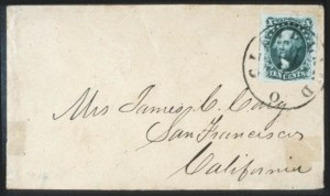 Sale Number 632, Lot Number 204, 1851-56 Issue10c Green, Ty. IV (6), 10c Green, Ty. IV (6)