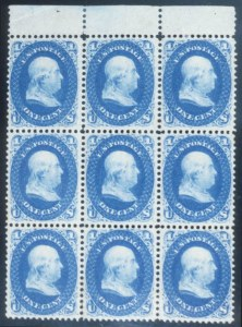 Sale Number 632, Lot Number 248, 1861-66 Issue1c Blue (63), 1c Blue (63)