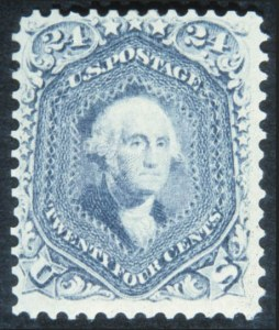 Sale Number 632, Lot Number 258, 1861-66 Issue24c Steel Blue (70b), 24c Steel Blue (70b)
