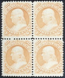 Sale Number 632, Lot Number 259, 1861-66 Issue30c Orange (71), 30c Orange (71)