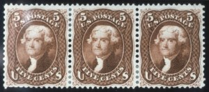 Sale Number 632, Lot Number 262, 1861-66 Issue5c Red Brown (75), 5c Red Brown (75)