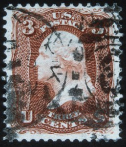 Sale Number 632, Lot Number 273, 1875 Re-Issue of 1861-66 Issue3c Brown Red, Re-Issue (104), 3c Brown Red, Re-Issue (104)