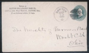 Sale Number 632, Lot Number 513, Parcel Post thru Postal Stationery3c Green on Fawn Entire, Die 3 (U171), 3c Green on Fawn Entire, Die 3 (U171)