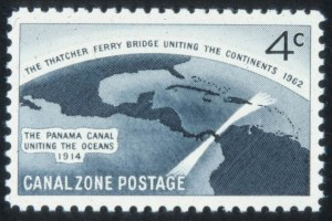 Sale Number 632, Lot Number 526, U.S. Possessions-----, 1962, 4c Thatcher Ferry Bridge, Silver Omitted (157a), -----, 1962, 4c Thatcher Ferry Bridge, Silver Omitted (157a)