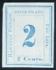 Sale Number 632, Lot Number 530, U.S. Possessions1859, 2c Light Blue on Blush White (13), 1859, 2c Light Blue on Blush White (13)