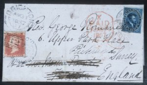 Sale Number 632, Lot Number 542, General Foreign1855, 10p Blue (7), 1855, 10p Blue (7)